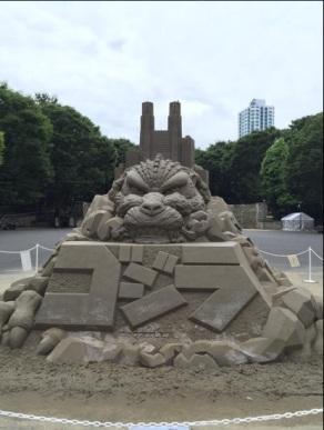 godzilla sandcastle1