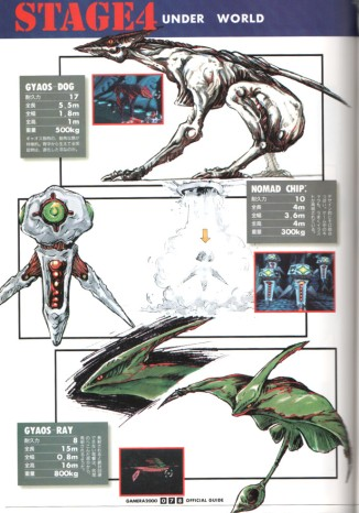 gamera 2000 enemies