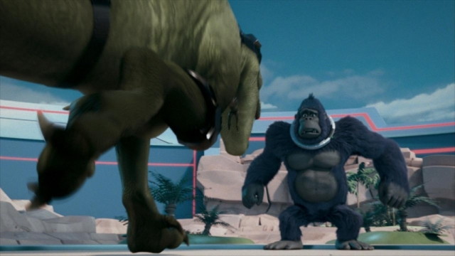 kong king of the apes dinosaur